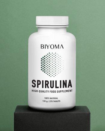 Maisto papildas ekologiska spirulina tabletemis tabletes imunitetui ir virskinimui